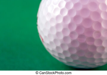 Golf Ball - Closup of the dimples of a golf ball shallow dof...