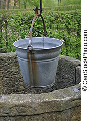 Water bucket - Fountain with a water bucket