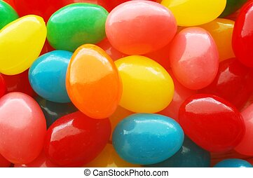 Jellybeans - A close-up of colorful jellybeans