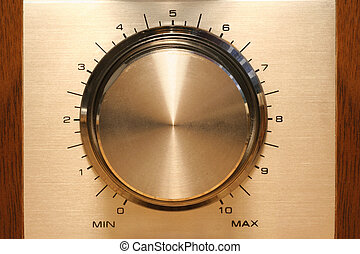 control knob for volume anything, with scale showing...