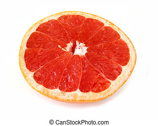 Grapefruit half - Half of ruby red grapefruit isolated on...