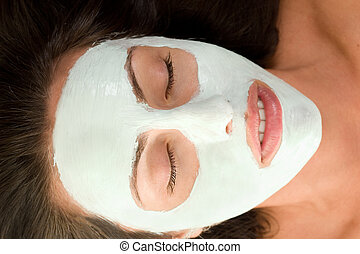 Beauty Mask - Woman with a facial mask