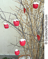 decoartion - branches decorated with apples