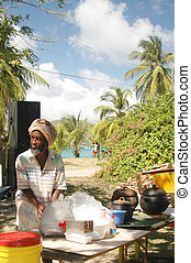 rasta man cooking 324 - rasta man preparing food