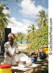 rasta man cooking 324 - rasta man preparing food