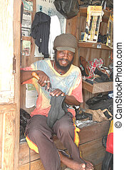 rasta man craftsman 131 - rasta man repairing shoes