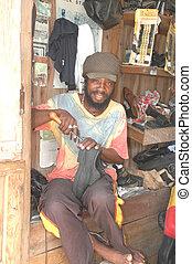rasta man craftsman 131 - rasta man repairing shoes