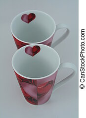 2 cups - A present to the Valentine´s Day