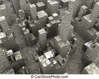 Big City 2- Stone - Symbolic render of an generic concrete...