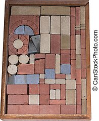 Stone blocks 1925 - A complete set of stone building blocks...