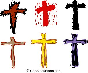 cross symbols - colourful and funky Christian cross designs