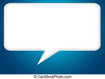 balloon rectangle - rectangle dialogue balloon with clipping...