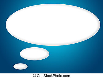 balloon silent - silent thought balloon with clipping path...