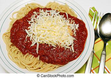 Pasta bolognaise - Pasta, spaghetti bolognaise with...