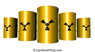 Radioactive Barrels - Barrels filled with radioactive Trash....