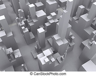 Big City abstract - Symbolic render of an generic concrete...