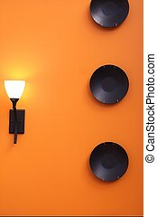 Interior Design - interior wall decorated with black plates...