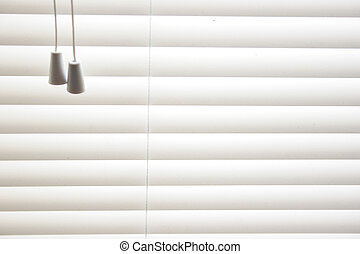 venetian blinds - detail of venetian blinds closed in window