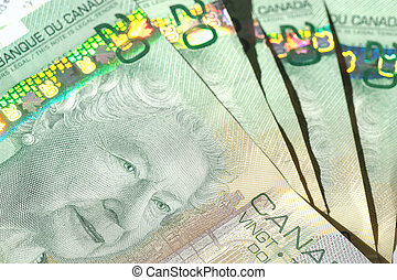 money background - canadian money for use of background