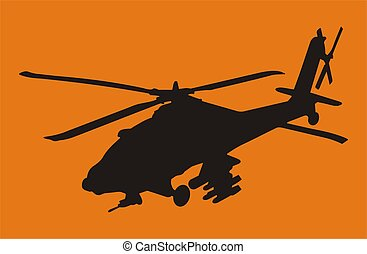 Apache helicopter - Illustration with a lot of details See...