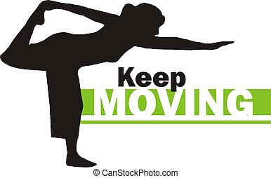 Keep moving 3 - This is a silhouette of a person practicing...