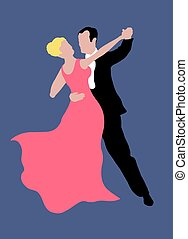 Dancing Couple - Illustration of couple dancing
