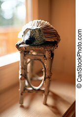 my pet - wooden hedgehog