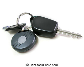 Car Keys, Objects Isolated On White