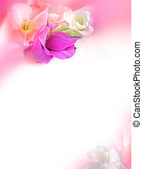 Love Greeting Card - St Valentines Day - Flowers - Gladiolus...