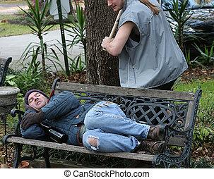 Homeless Man - Under Attack