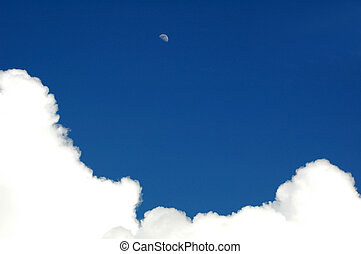 white clouds - White clouds with blue sky.