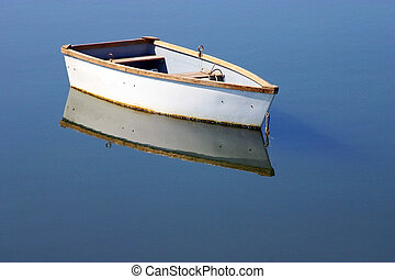 Rowboat - A rowboat and its reflections