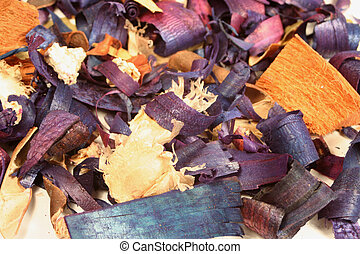 potpourri - scented wood chips and potpourri