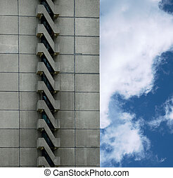 urban building and sky - urban building