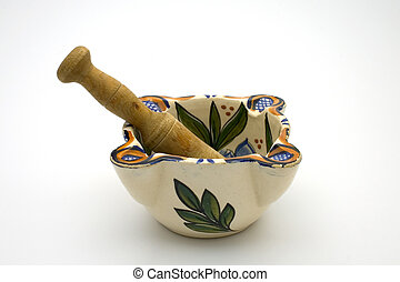 Mortar and pestle - Isolated mortar and pestle
