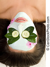 Soothing Green Tea and Cucumber mask - Green tea and...