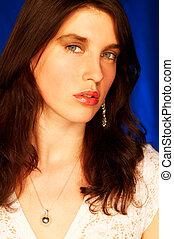 brunette model pose