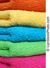 Towels - Stacked colorful towels