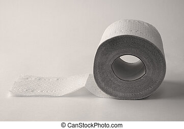 toilet paper on the black background - toilet paper on the...