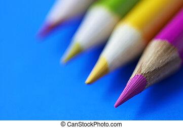color penciles in macro - color penciles