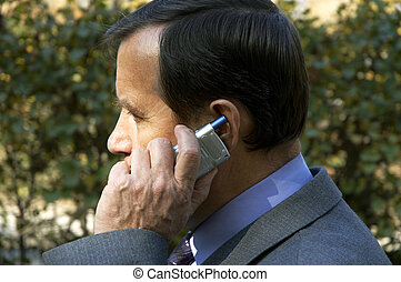 businessman on phone - business call