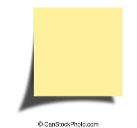 Post it note - Blank note isolated