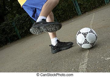 soccer on the street - street soccer