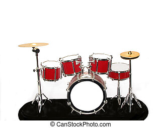 Drum Kit - , a drum kit over white