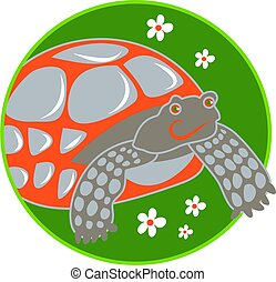 tortoise - stylised drawing of a tortoise