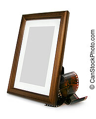 Photo Frame&tape - Wooden Photo Frame And Photo Tape,...