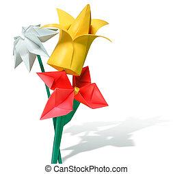 Origami, flores