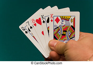 cards with hand 01 poker pair.