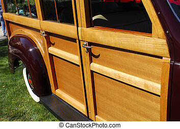 Woody - Side view of classic \\\'woody\\\' station wagon