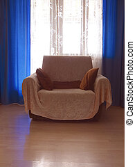 Armchair in living room